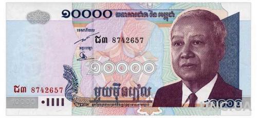 КАМБОДЖА 56b CAMBODIA 10000 RIELS 2005 Unc