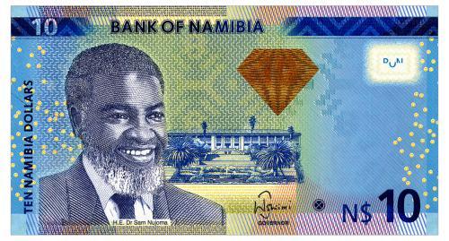 НАМИБИЯ 11b NAMIBIA 10 DOLLARS 2013 Unc