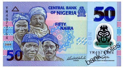 НИГЕРИЯ 40a NIGERIA 50 NAIRA 2009 Unc