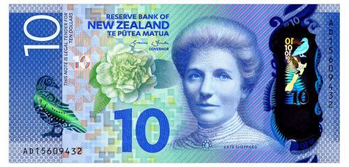 НОВАЯ ЗЕЛАНДИЯ 192 NEW ZEALAND 10 DOLLARS  ND(2015) Unc