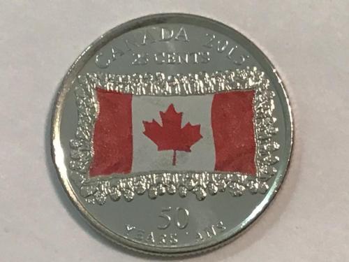 Канада 25 центов 2015, 50 лет Флагу