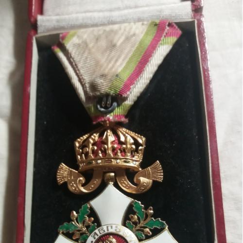 """19 век! Орден """"За гражданские заслуги"""" 4 степени. Оригинал. В родной коробке. Болгария. Сохран!"""