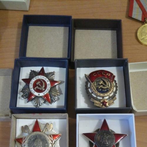 Коробки под ордена и медали