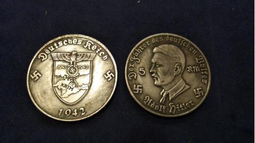 Крым наш! 5 марок Гитлера 1942 года.