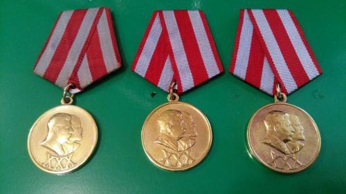 медали 30 лет САиФ. Люкс.