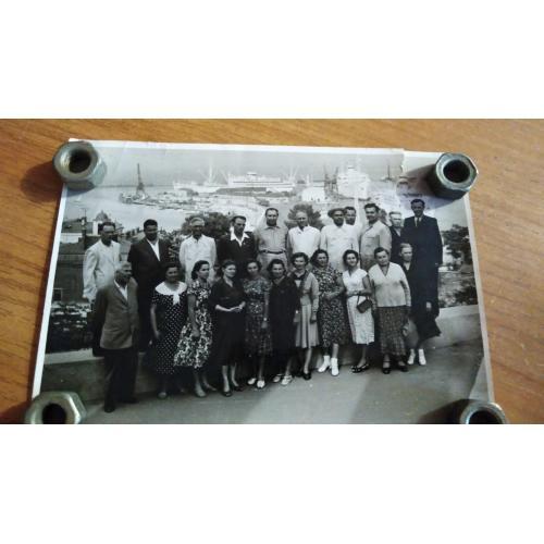 Одесса. Порт. 1959 год. Комсомольские работники.
