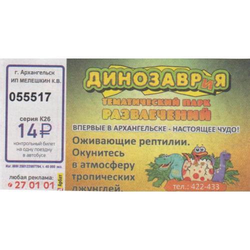 билет Архангельск-12