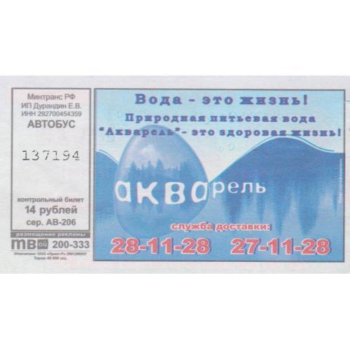 билет Архангельск-19