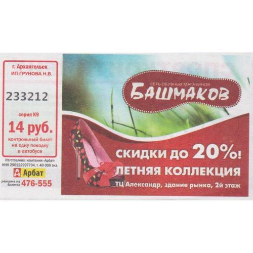 билет Архангельск-8