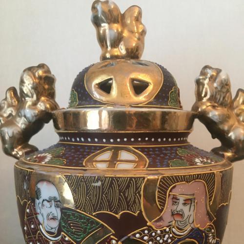Satsyma аутентичніа японська ваза з кришечкою