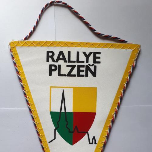 Вымпел ЧССР. Rallye Plzen (Ралли Пльзень) 195 х 140 мм. без кисточки