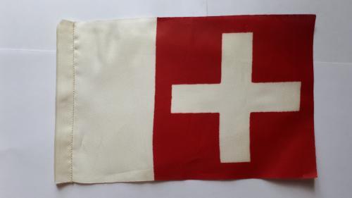 Вымпел. Флаг Швейцарии. 180 х 115 мм.
