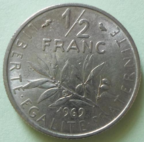(А) Франция ½ франка 1969