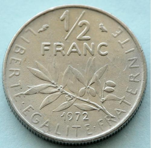 (А) Франция ½ франка 1972