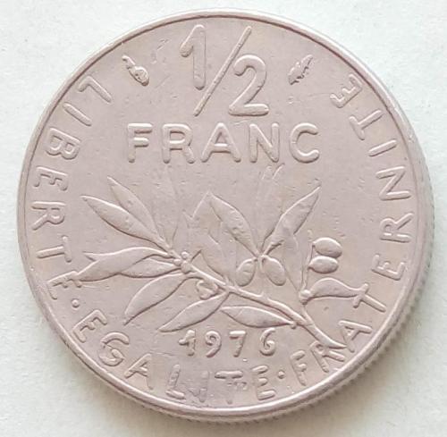 (А) Франция ½ франка 1976