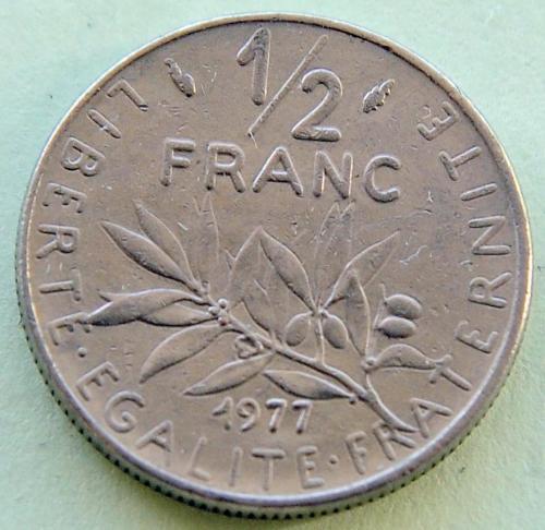 (А) Франция ½ франка 1977
