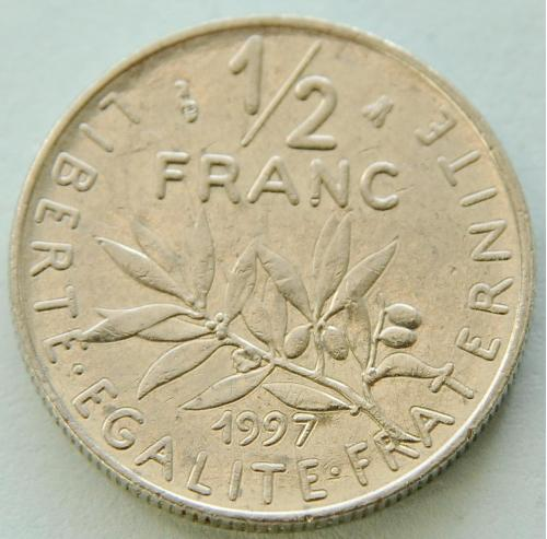 (А) Франция ½ франка 1997