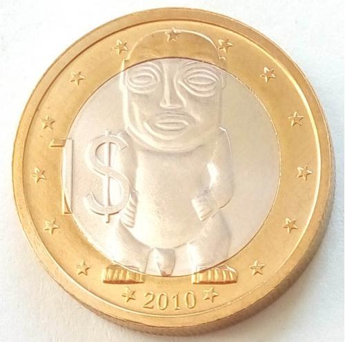 (V) Острова Кука 1 доллар 2010