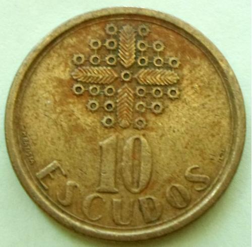 (А) Португалия 10 эскудо 1987