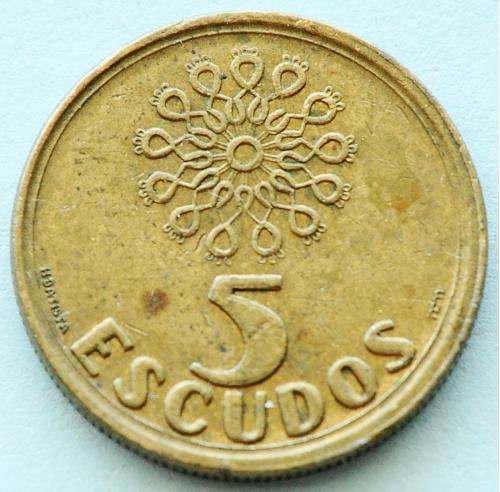 (А) Португалия 5 эскудо 1998