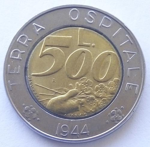 (А) Сан-Марино 500 лир 1991