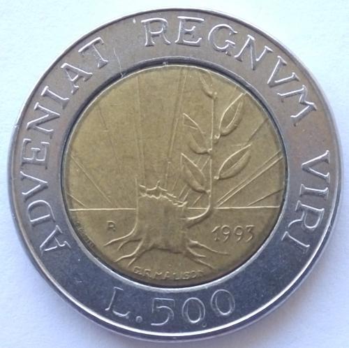 (А) Сан-Марино 500 лир 1993