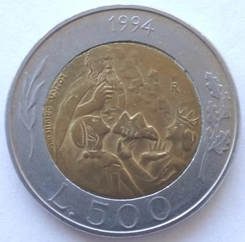 (А) Сан-Марино 500 лир 1994