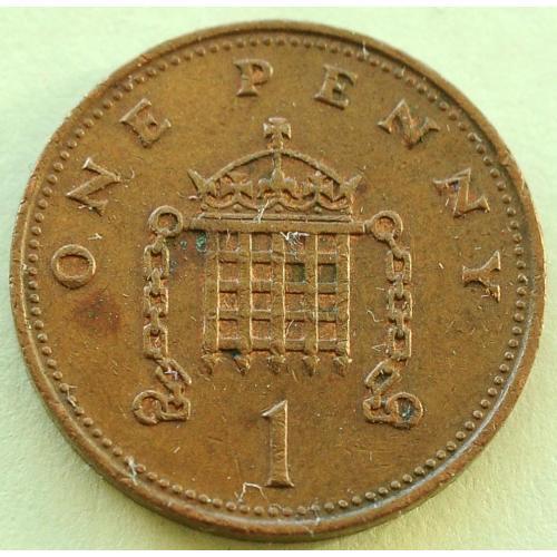 (А) Великобритания 1 пенни 1986