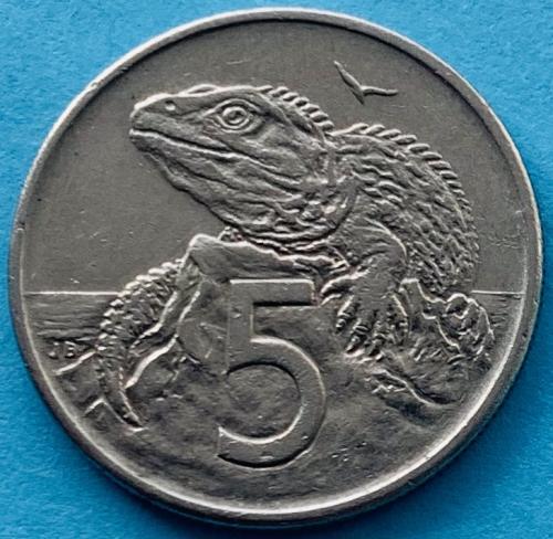 (К3) Новая Зеландия 5 центов 1981