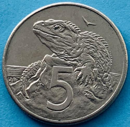 (К3) Новая Зеландия 5 центов 1986