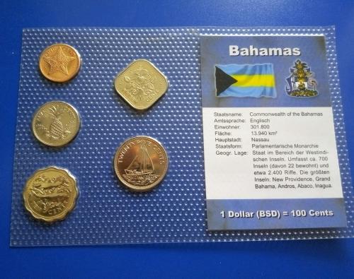 (V) Багамы набор монет