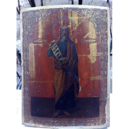 Икона еврейский судья Гедеон 19 век, 40x30 см.