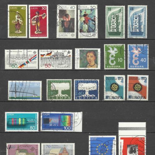 марки Германии СЕРТ ЕUROPA (подборка 22 шт)