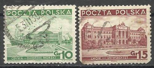 Марки  Польши 1937