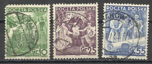 Марки  Польши 1938