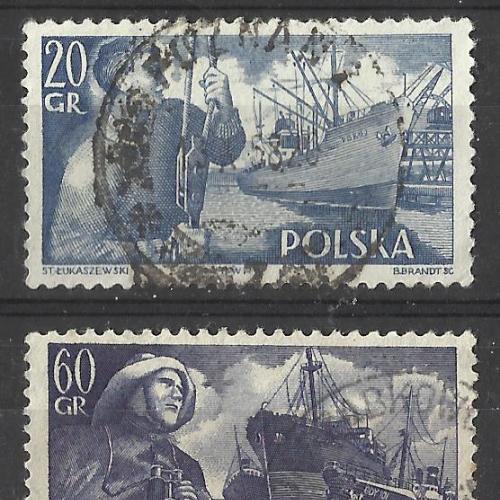Марки  Польши 1956