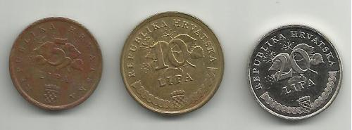 монеты  Хорватии 1997 (флора)