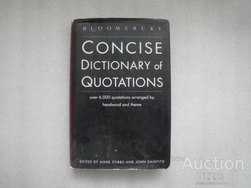 Книга Bloomsbury Concise Dictionary of Quotations