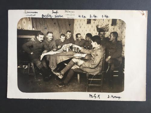ПМВ. Фото немцы с пивом.1916 г.