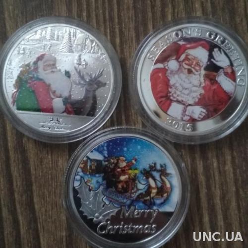 Монета подарок на новый год рождество