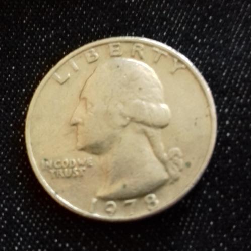 Монета LIBERTY QUARTER DOLLAR 1978 (перевертыш)