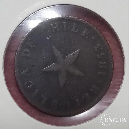 Чили 1 сентаво 1853