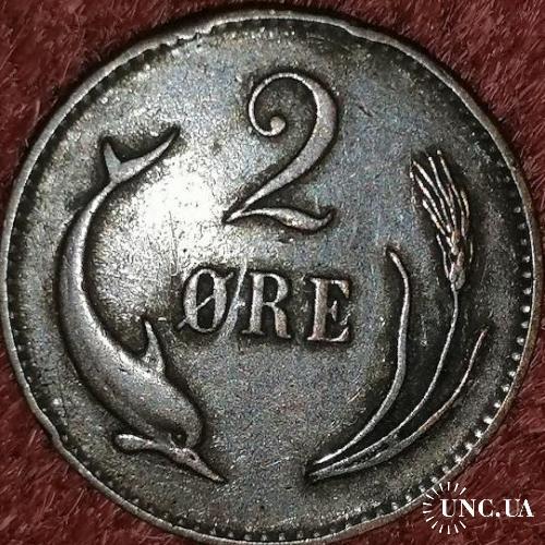 Дания 2 оре 1874