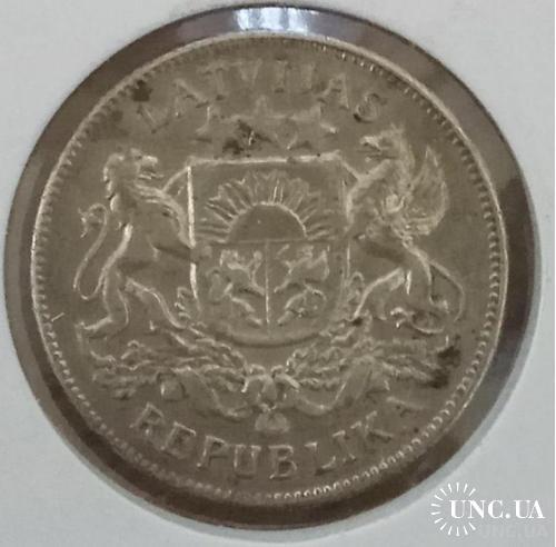 Латвия 2 лати, 1925 Серебро