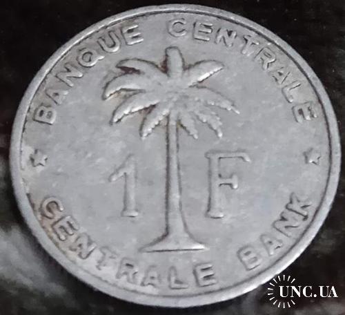 Руанада-Урунди 1 франков 1957  Конго