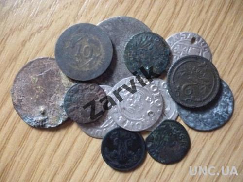 Набор стареньких монет (13 шт)