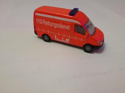 Машинка металлическая SIKU Mersedes Sprinter спецтранспорт.
