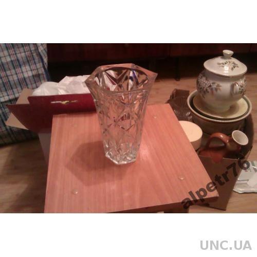 Хрустальная ваза 2 из ссср