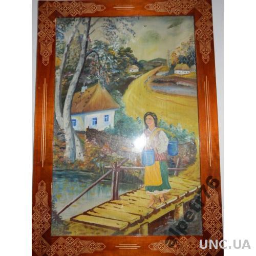 Картина масло фанера DSCN5212  7247СМ