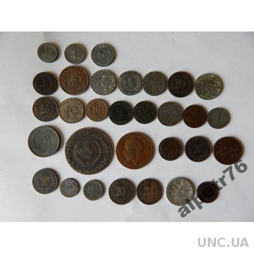 Монеты иностранные старинные 31 штук  DSCN3649